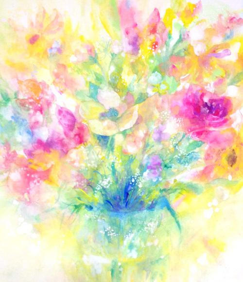 玄関の花絵