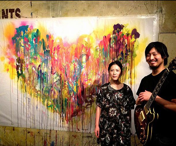 同時代ギャラリー感謝party/live painting