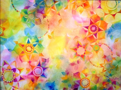 セミオーダーの色彩画