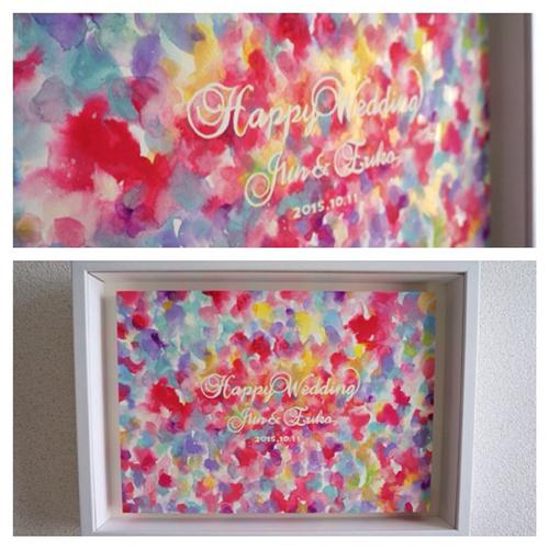 <セミオーダー色彩画>結婚式と新居の彩りに