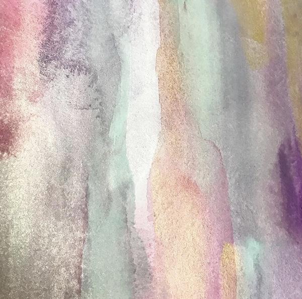 色彩画/音からの色「可愛く鳴る金属」